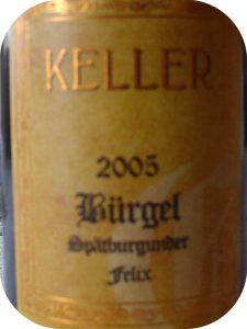 2005 Weingut Keller, Dalsheim Bürgel Spätburgunder Felix Großes Gewächs, Rheinhessen, Tyskland