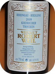 2009 Weingut Robert Weil, Riesling Kiedricher Trocken, Rheingau, Tyskland