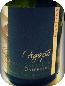 2008 Domaine Agapé, Riesling Grand Cru Osterberg, Alsace, Frankrig