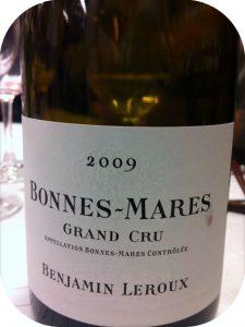 2009 Benjamin Leroux, Bonnes-Mares Grand Cru, Bourgogne, Frankrig