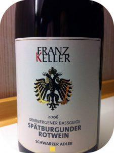 2008 Franz Keller Schwarzer Adler, Oberbergener Bassgeige Spätburgunder, Baden, Tyskland