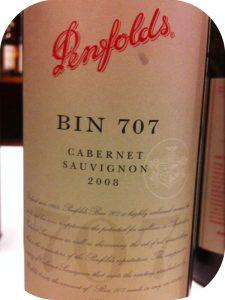 2008 Penfolds, Bin 707 Cabernet Sauvignon, Barossa, Australien