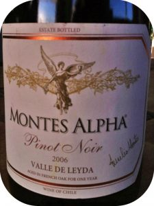 2006 Montes, Alpha Pinot Noir, Leyda Valley, Chile