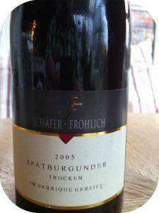 2005 Weingut Schäfer-Fröhlich, Spätburgunder Trocken in Barrique gereift, Nahe, Tyskland