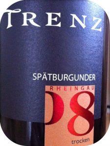 2008 Weingut Trenz, Spätburgunder Trocken, Rheingau, Tyskland
