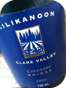 2004 Kilikanoon, Covenant Shiraz, Clare Valley, Australien