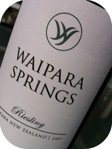 2009 Waipara Springs Winery, Riesling, Waipara, New Zealand