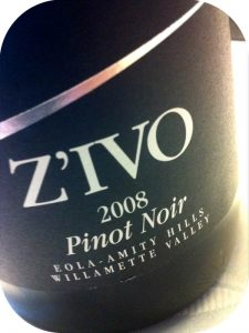 2008 Z'IVO Wines, Pinot Noir, Oregon, USA