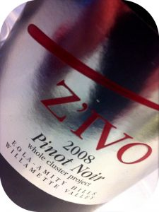 2008 Z'IVO Wines, Pinot Noir Whole Cluster, Oregon, USA