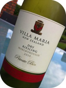 2010 Villa Maria, Dry Riesling Private Bin, Marlborough, New Zealand