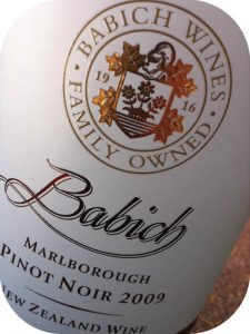 2009 Babich Wines, Pinot Noir, Marlborough, New Zealand
