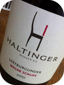 2010 Haltinger Winzer EG, Spätburgunder Weiler Schlipf, Baden, Tyskland
