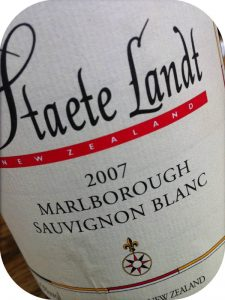 2007 Staete Landt, Estate Grown Sauvignon Blanc, Marlborough, New Zealand