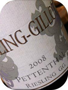 2008 Weingut Kühling-Gillot, Riesling Pettenthal GG, Rheinhessen, Tyskland
