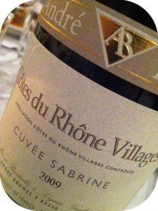 2009 André Brunel, Cuvée Sabrine Côtes du Rhône Villages, Rhône, Frankrig