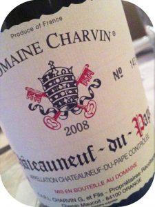 2008 Domaine Charvin, Châteauneuf-du-Pape, Rhône, Frankrig