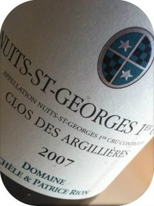 2007 Domaine Michèle & Patrice Rion, Nuits-St-Georges 1er Cru Clos Des Argilléres, Bourgogne, Frankrig