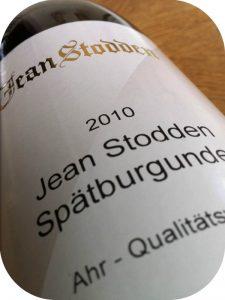 2010 Weingut Jean Stodden, Spätburgunder, Ahr, Tyskland