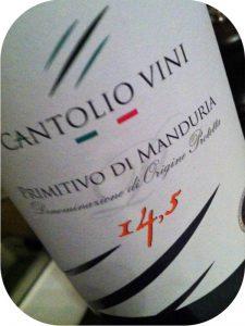 2009 Cantolio Vini, Primitivo di Manduria, Puglia, Italien