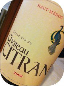 2008 Château Citran, Haut-Médoc, Bordeaux, Frankrig