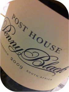 2009 Post House Wines, Penny Black, Stellenbosch, Sydafrika