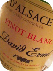 2011 Domaine David Ermel, Pinot Blanc, Alsace, Frankrig