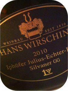 2010 Weingut Hans Wirsching, Iphöfer Julius-Echter-Berg Silvaner Großes Gewächs, Franken, Tyskland
