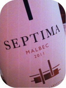 2011 Bodegas Septima, Malbec, Mendoza, Argentina