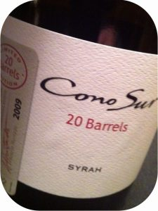 2009 Cono Sur Vineyards & Winery, 20 Barrels Syrah, Colchagua Valley, Chile