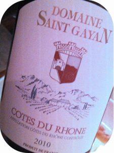 2010 Domaine Saint Gayan, Côtes du Rhône, Rhône, Frankrig