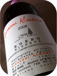 2008 Giovanni Almondo, Roero Riserva, Piemonte, Italien