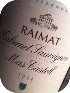 1994 Raimat, Mas Castell Cabernet Sauvignon, Costers del Segre, Spanien