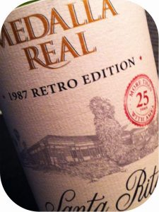 2010 Viña Santa Rita, Medalla Real 1987 Retro Edition, Maipo Valley, Chile
