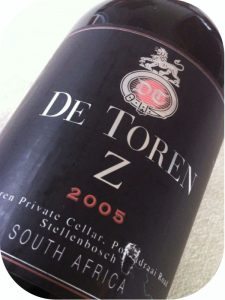 2005 De Toren Private Wine Cellar, De Toren Z, Stellenbosch, Sydafrika