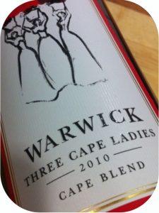 2010 Warwick Estate, Three Cape Ladies, Stellenbosch, Sydafrika