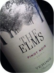 2011 Yering Station, The Elms Pinot Noir, Victoria, Australien