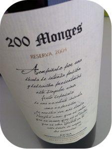 2004 Bodegas Vinicola Real, 200 Monges Reserva Selección Especial, Rioja, Spanien