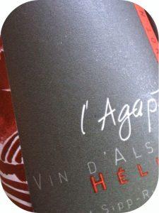 """2009 Domaine Agapé, Helios Pinot Noir """"B"""" Elevé en Barrique, Alsace, Frankrig"""
