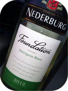 2012 Nederburg, Foundation Sauvignon Blanc, Western Cape, Sydafrika