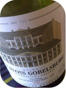 2009 Weingut Schloss Gobelsburg, Riesling Heiligenstein Erste Lage, Kamptal, Østrig