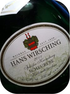 2011 Weingut Hans Wirsching, Scheurebe Kabinett Trocken Iphöfer Kronsberg, Franken, Tyskland