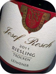 2011 Weingut Josef Rosch, Leiwener Riesling Trocken, Mosel, Tyskland