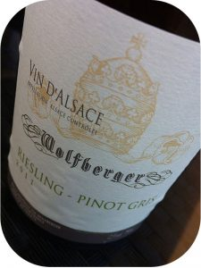 2011 Cave Vinicole Wolfberger, Riesling-Pinot Gris, Alsace, Frankrig