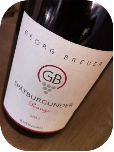 2011 Weingut Georg Breuer, Spätburgunder GB Rouge, Rheingau, Tyskland