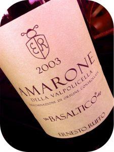 2003 Ernesto Ruffo, Basaltico Amarone della Valpolicella, Veneto, Italien