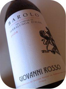 2008 Giovanni Rosso, Barolo Serralunga, Piemonte, Italien