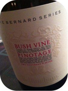2007 Bellingham, The Bernard Series Bush Vine Pinotage, Stellenbosch, Sydafrika