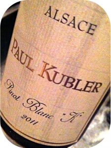"2011 Paul Kubler, Pinot Blanc ""K"", Alsace, Frankrig"