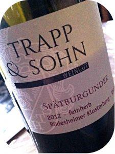 2012 Weingut Trapp & Sohn, Rüdesheimer Klosterberg Spätburgunder Feinherb, Rheingau, Tyskland