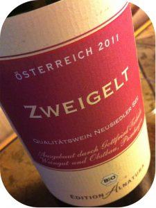 2011 Weingut und Obstbau Gottfried Tschida, Zweigelt Edition Alnatura, Burgenland, Østrig